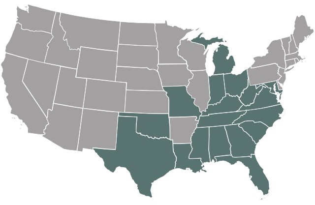 Licensed States Map